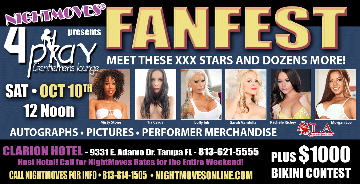 NightMoves® Brings Bevy of XXX Stars to Annual Fan Fest Saturday, October 10