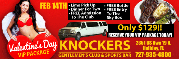 KNOCKERS VALENTINES DAY VIP SPECIAL
